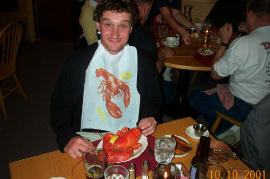 The lobster meal