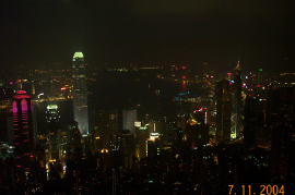 Hong Kong from peak at night