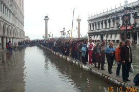 Venice - High water on San Marco Square